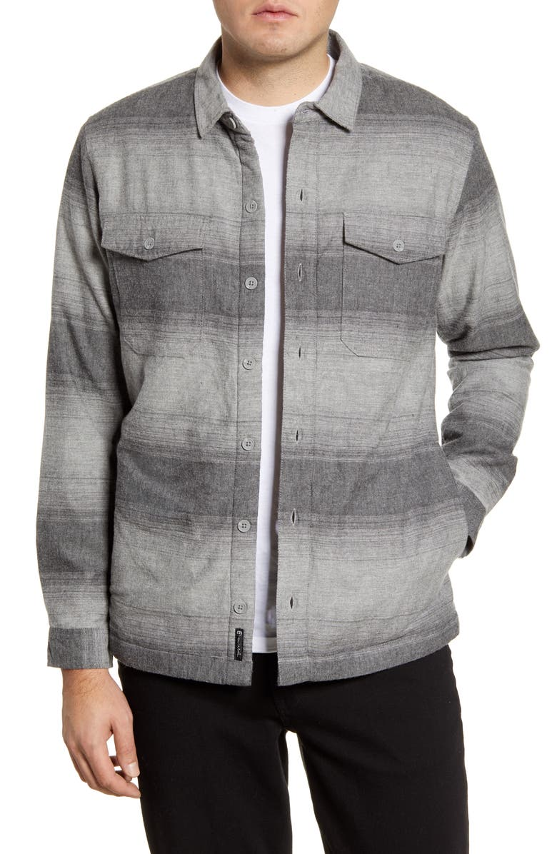 TRAVISMATHEW Towner Regular Fit Cotton Blend Shirt Jacket, Main, color, QUITE SHADE
