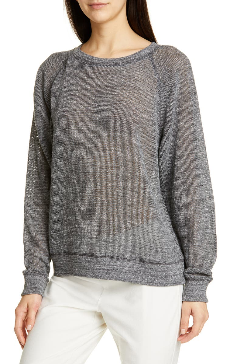 EILEEN FISHER Cotton Mesh Top, Main, color, 030