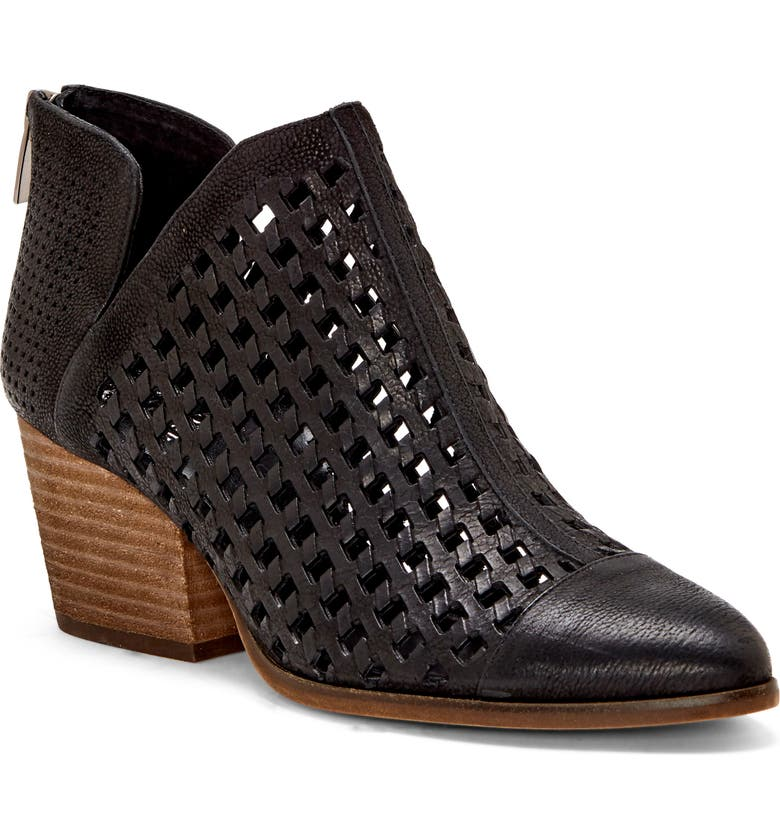 VINCE CAMUTO Neeja Bootie, Main, color, BLACK LEATHER