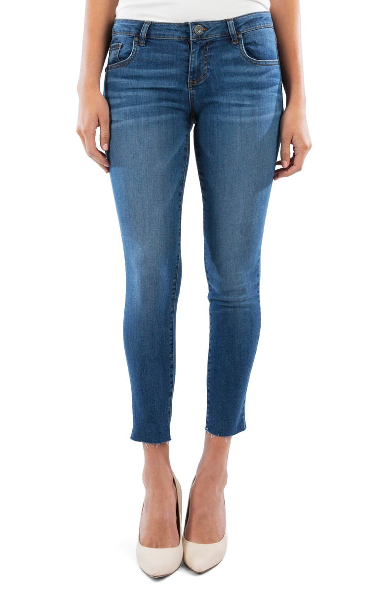 KUT FROM THE KLOTH Donna Raw Hem Ankle Skinny Jeans, Main, color, COLLABORATE W/M