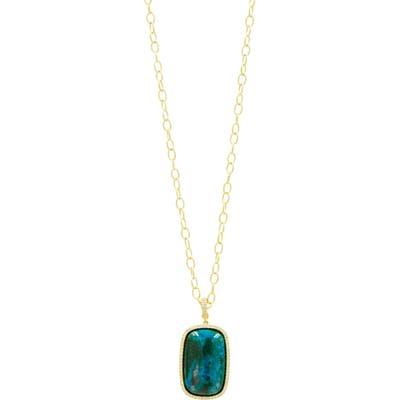 Freida Rothman Harmony Large Stone Pendant Necklace
