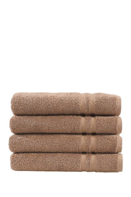 Image of LINUM HOME Denzi Hand Towels - Set of 4 - Latte