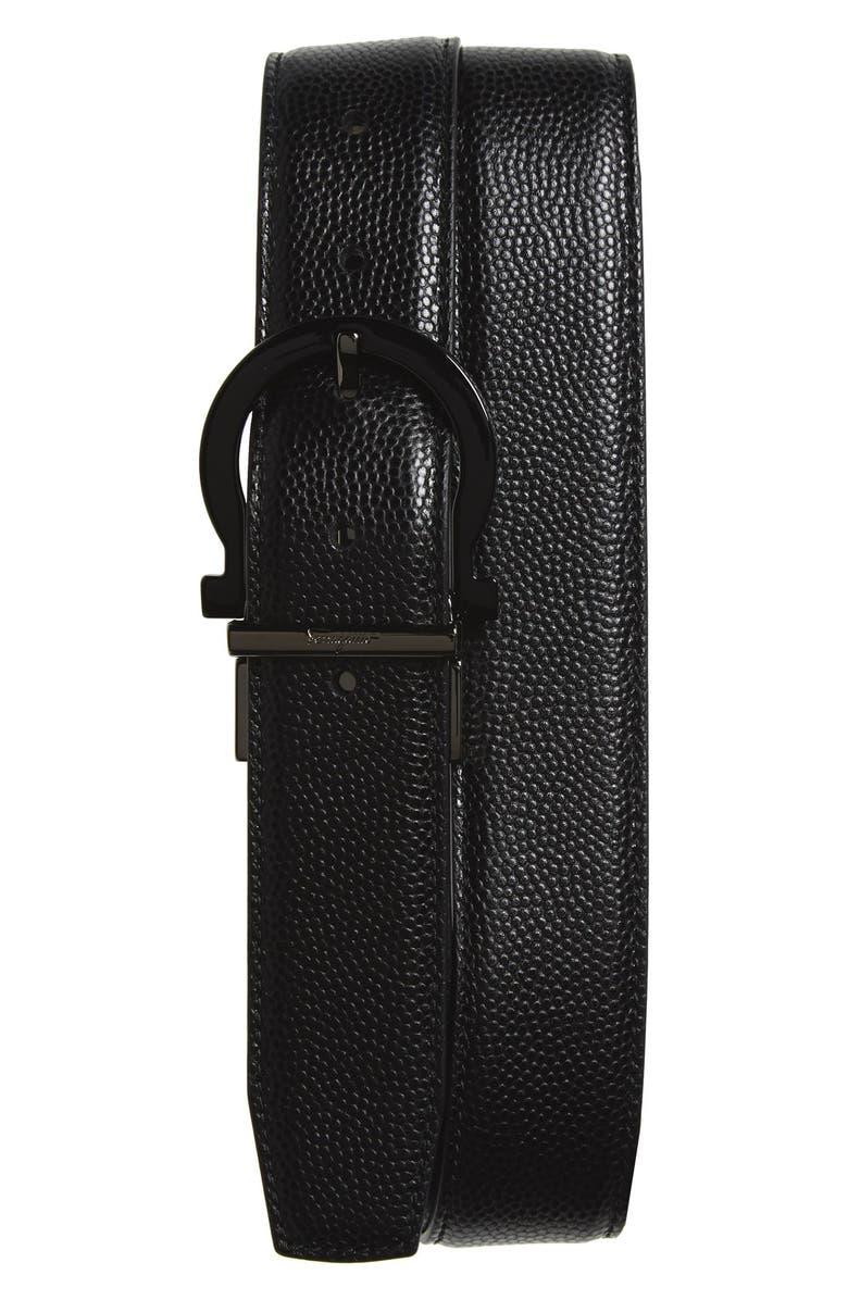 Salvatore Ferragamo Reversible Calfskin Leather Belt ...
