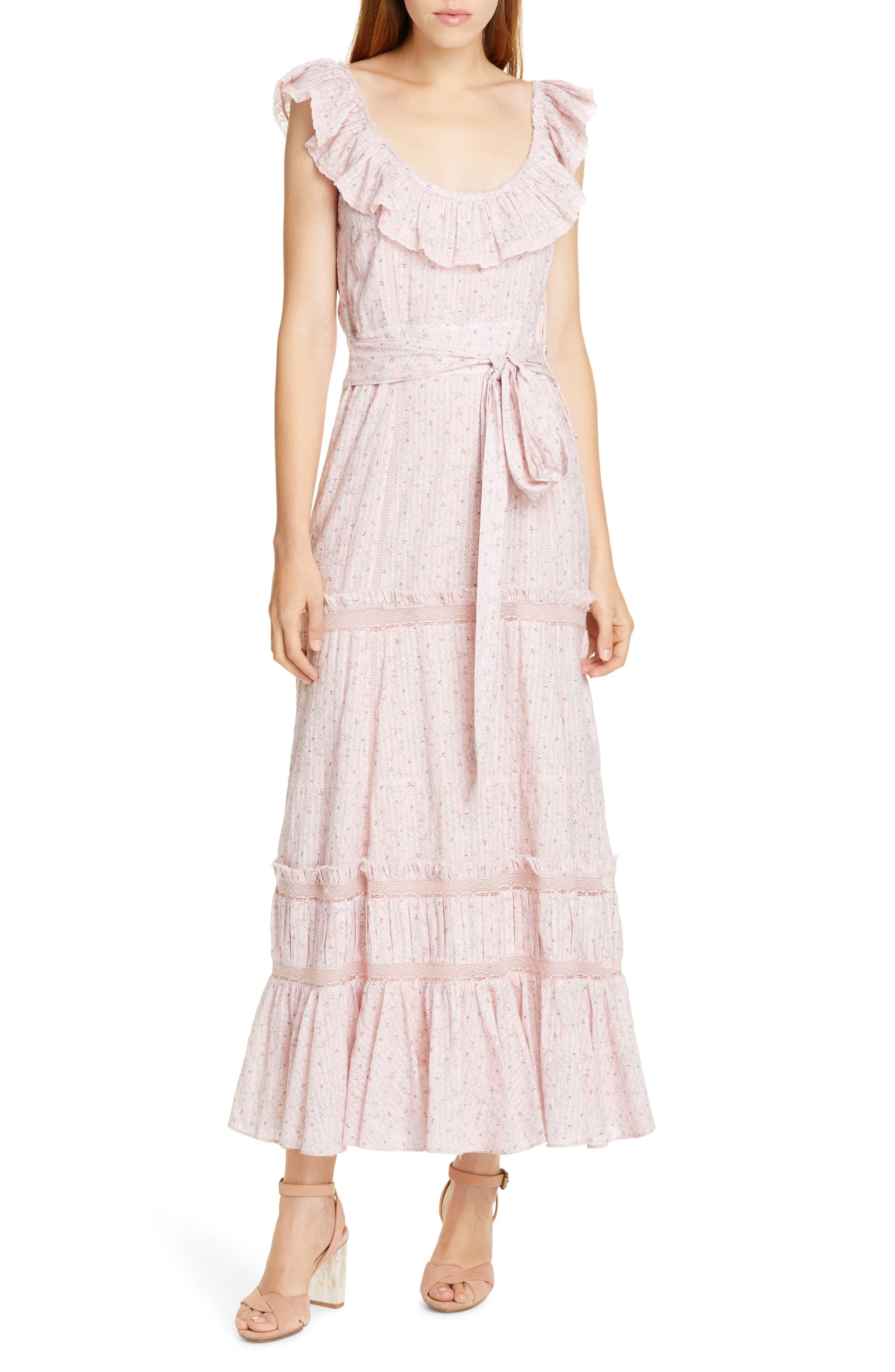 Loveshackfancy Joanne Maxi Dress, Pink