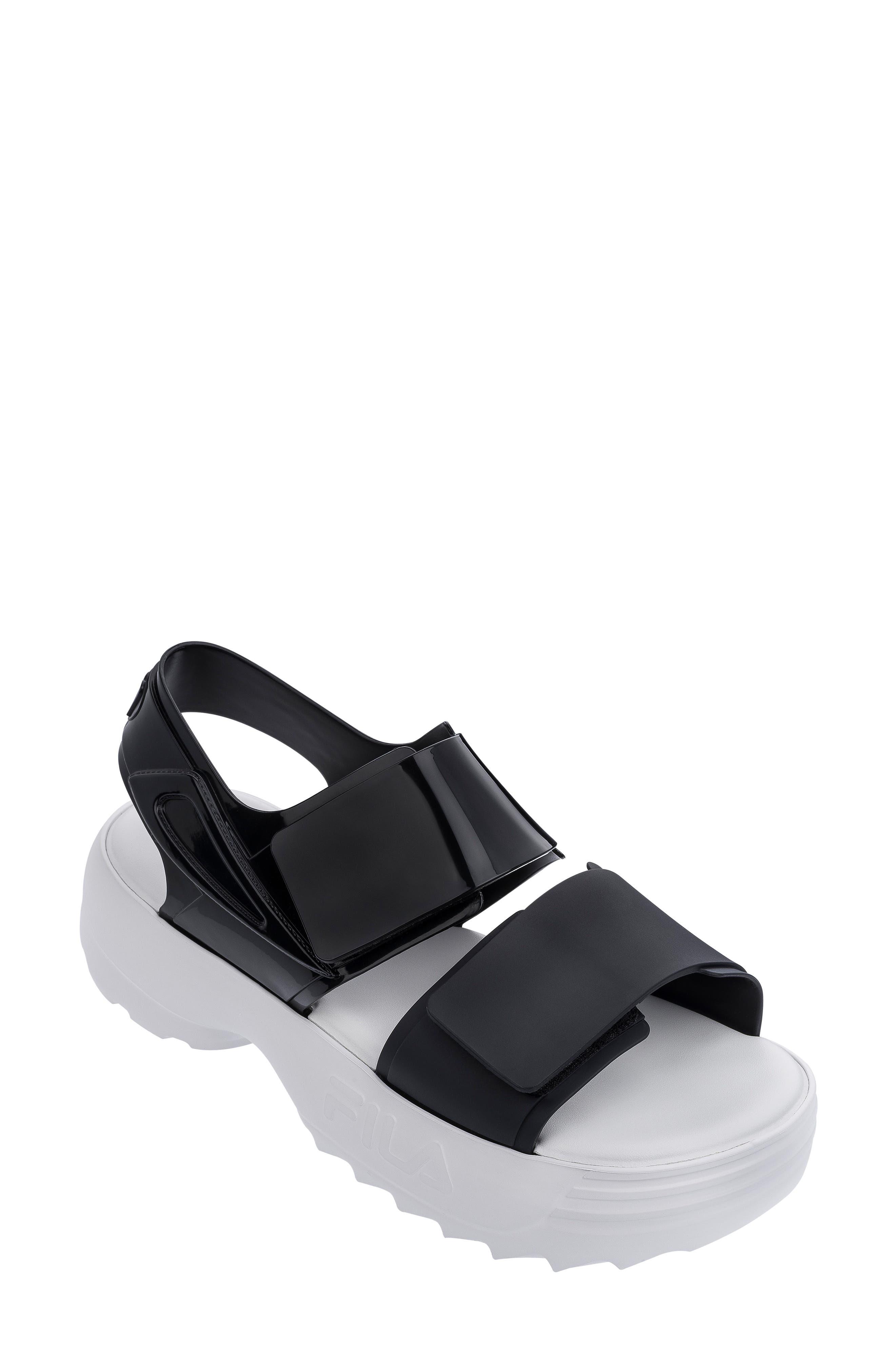 fila platform sandals