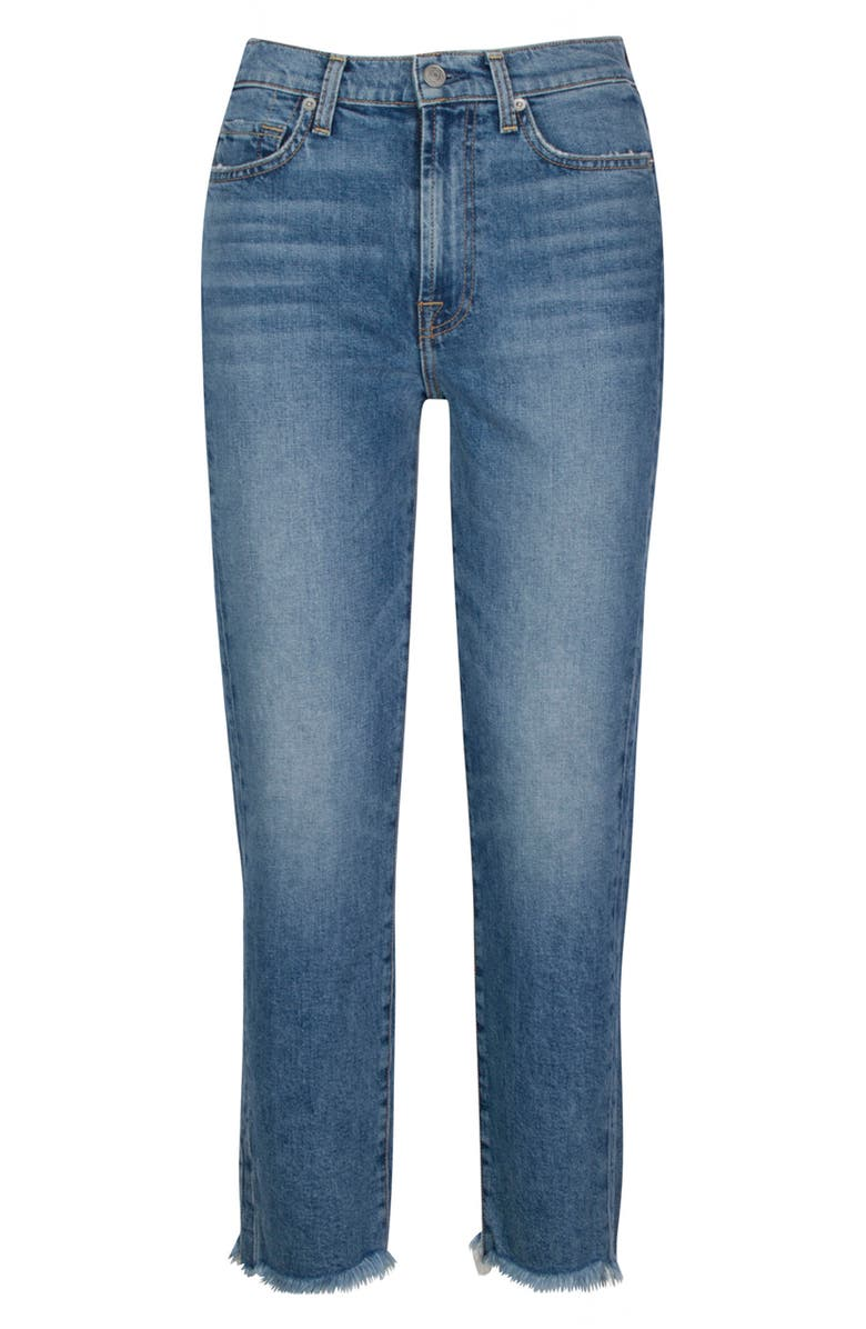 7 FOR ALL MANKIND<SUP>®</SUP> Seven Fray Hem Straight Ankle Jeans, Main, color, ALPINE
