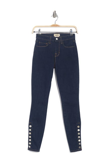 Image of L'AGENCE Piper High Waist Button Placket Skinny Jeans