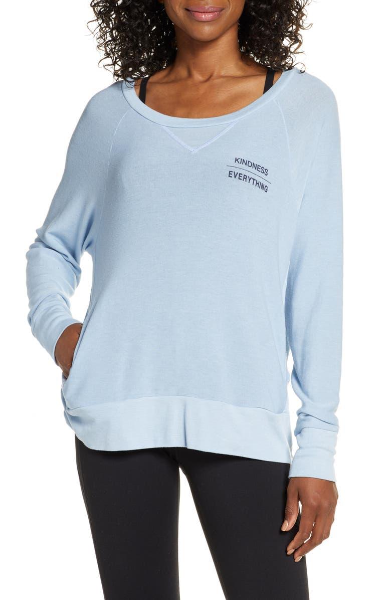 GOOD HYOUMAN Brooke Kindness Pullover, Main, color, BLUE FOG