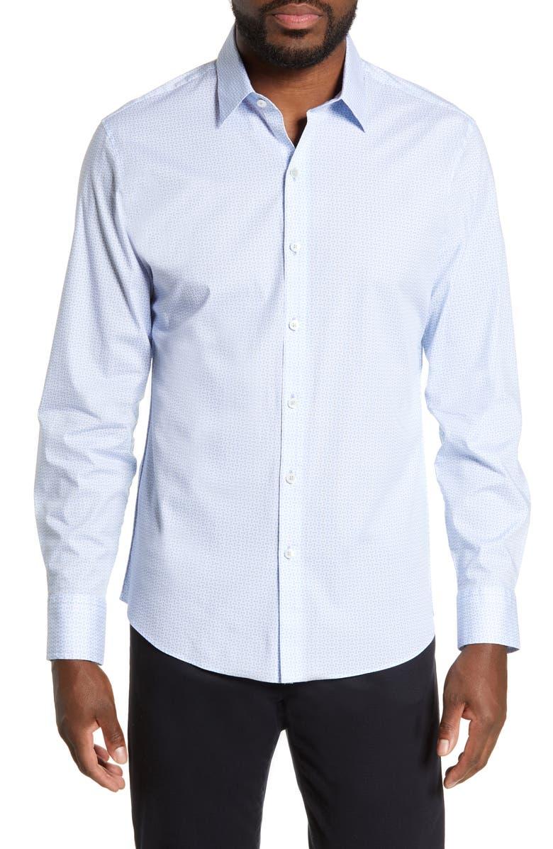 ZACHARY PRELL Belanger Regular Fit Print Sport Shirt, Main, color, 450