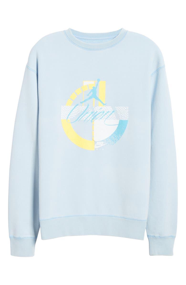 JORDAN NRG Men's Basketball Fleece Sweatshirt, Main, color, PSYCHIC BLUE