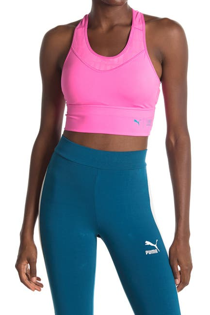 Image of PUMA Mid Impact First Mile Long Line Sports Bra