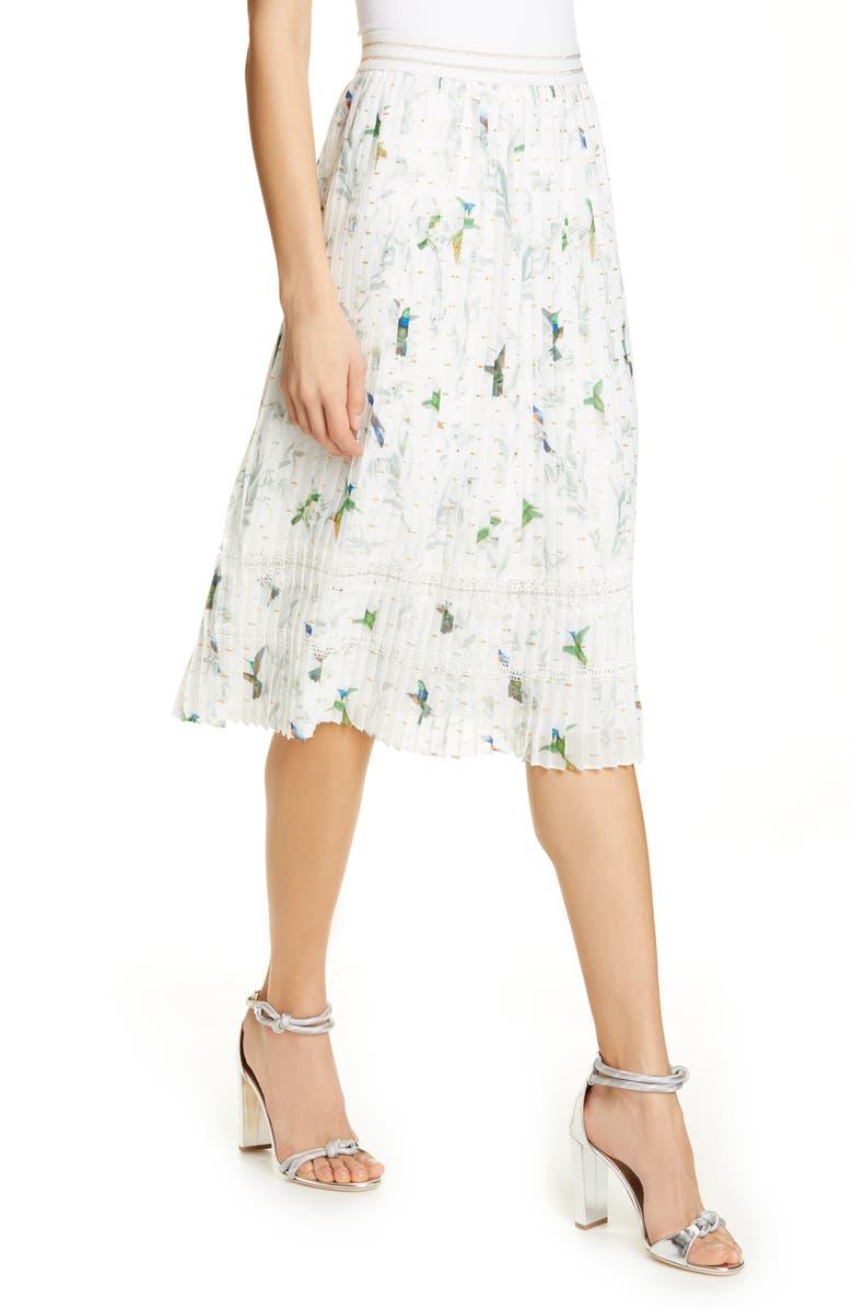 TED BAKER LONDON Linnett Fortune Pleat Skirt, Main, color, 110