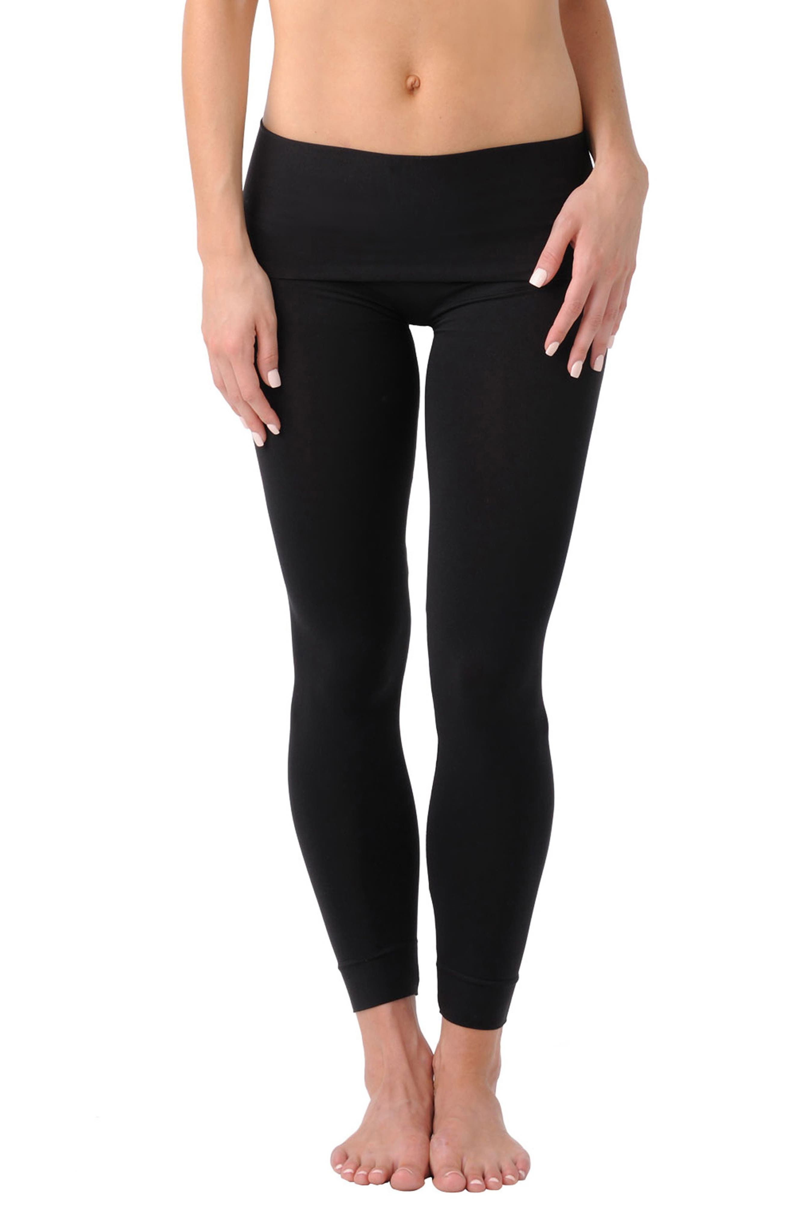 B.D.A.<sup>™</sup> Stretch Knit Leggings, Main, color, BLACK