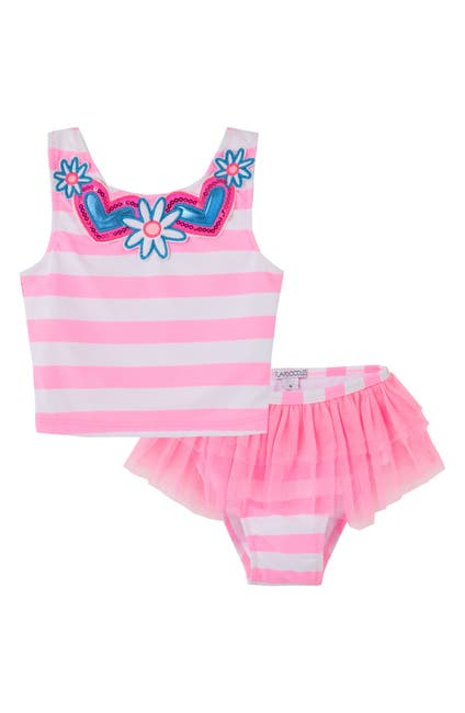 Image of Flapdoodles Stripe Print Tankini 2-Piece Set