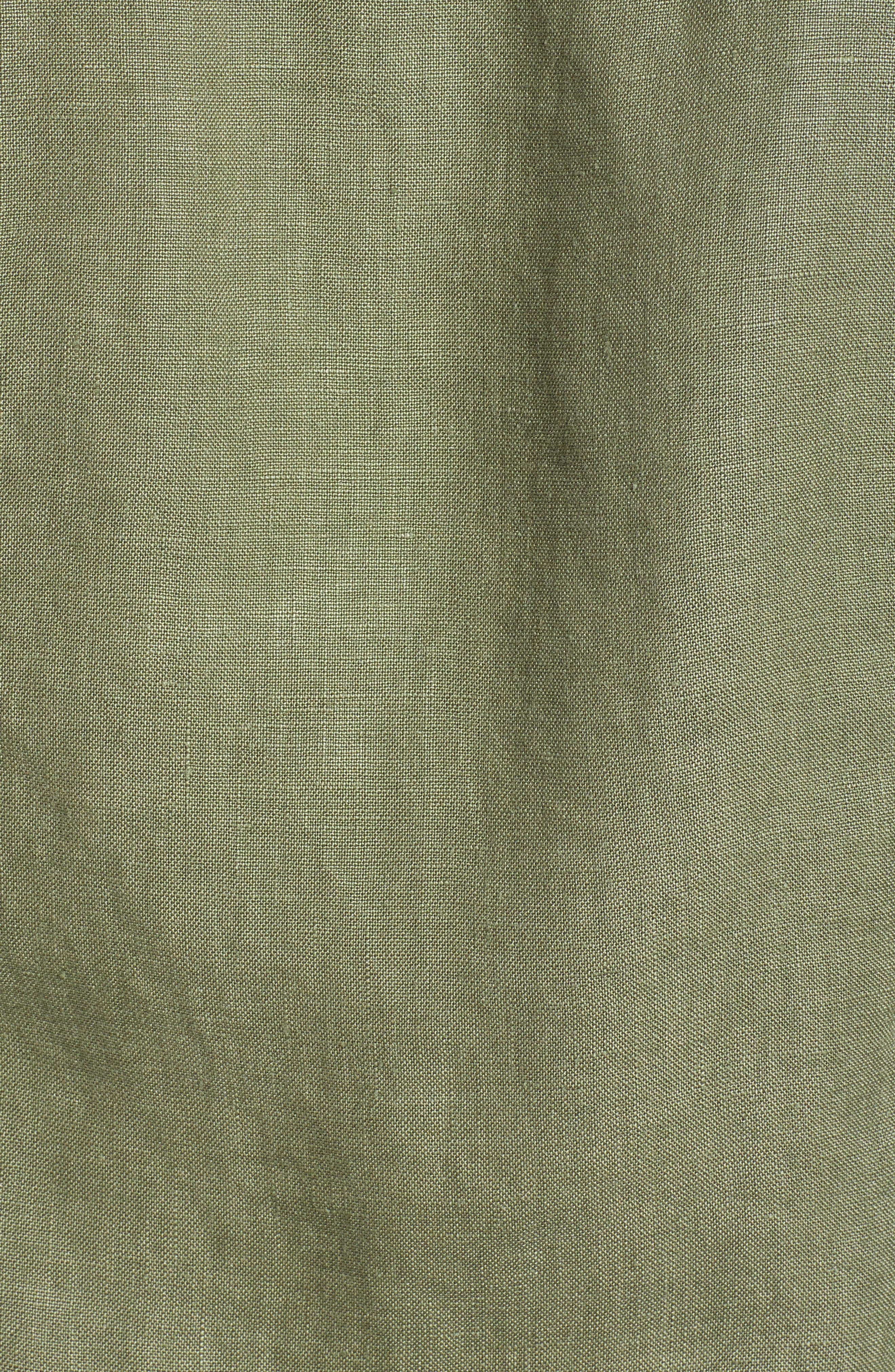 ,                             'Two Palms' Linen Raw Edge Jacket,                             Alternate thumbnail 6, color,                             TEA LEAF
