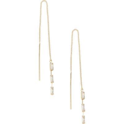 Ettika Crystal Chain Threader Earrings