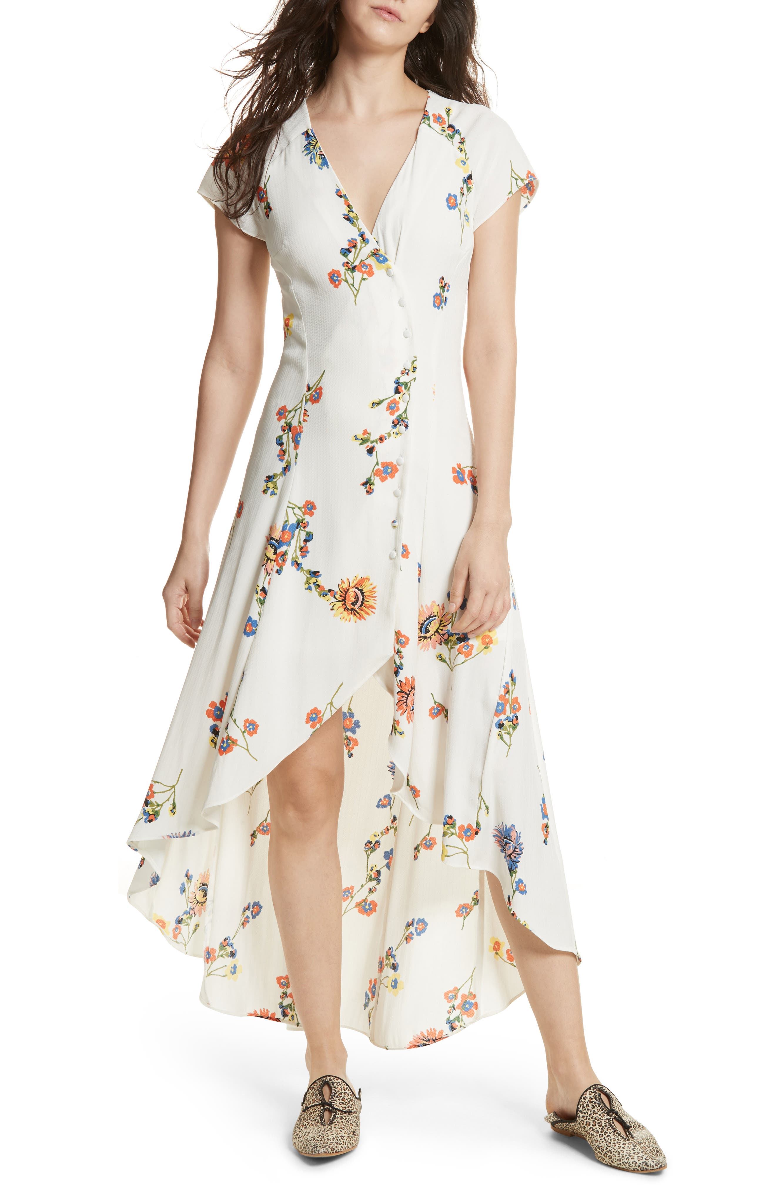 ,                             Lost in You Midi Dress,                             Main thumbnail 1, color,                             100