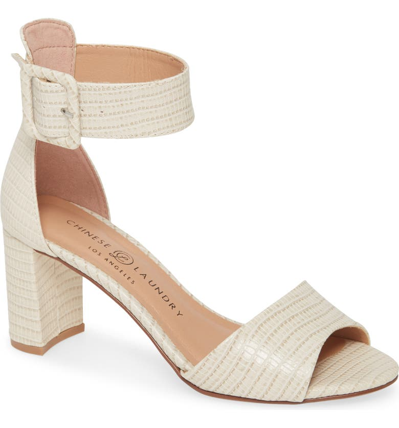 CHINESE LAUNDRY Rumor Sandal, Main, color, CREAM FAUX LEATHER
