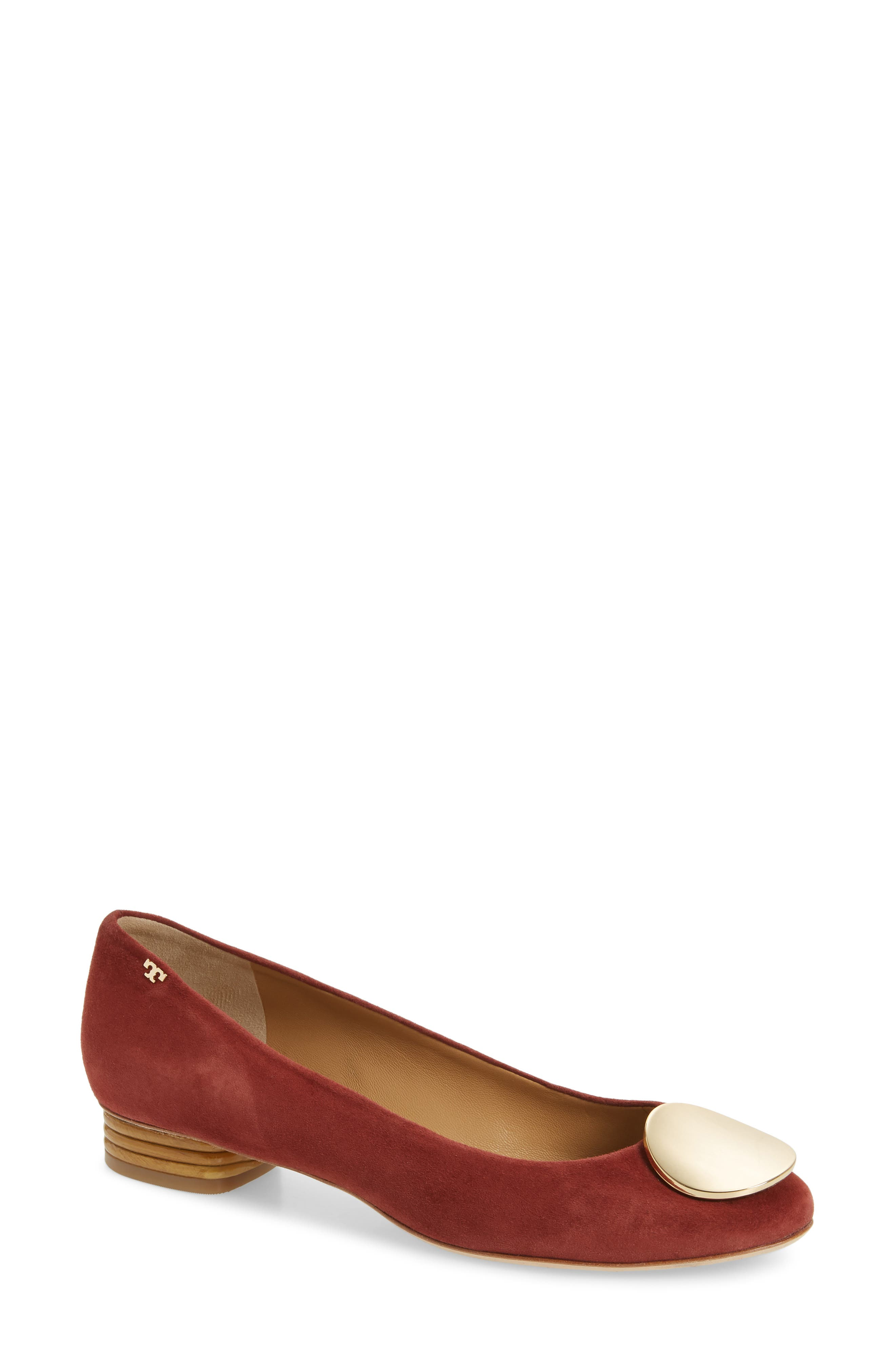 Tory Burch Patos Medallion Flat, Red