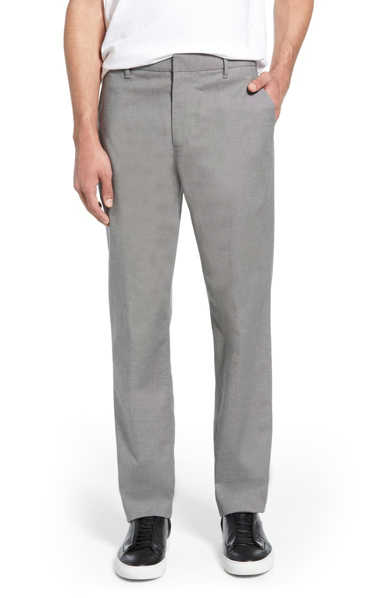 BONOBOS Tailored Fit Stretch Washed Chinos, Main, color, FRIDAY GREY YARN DYE