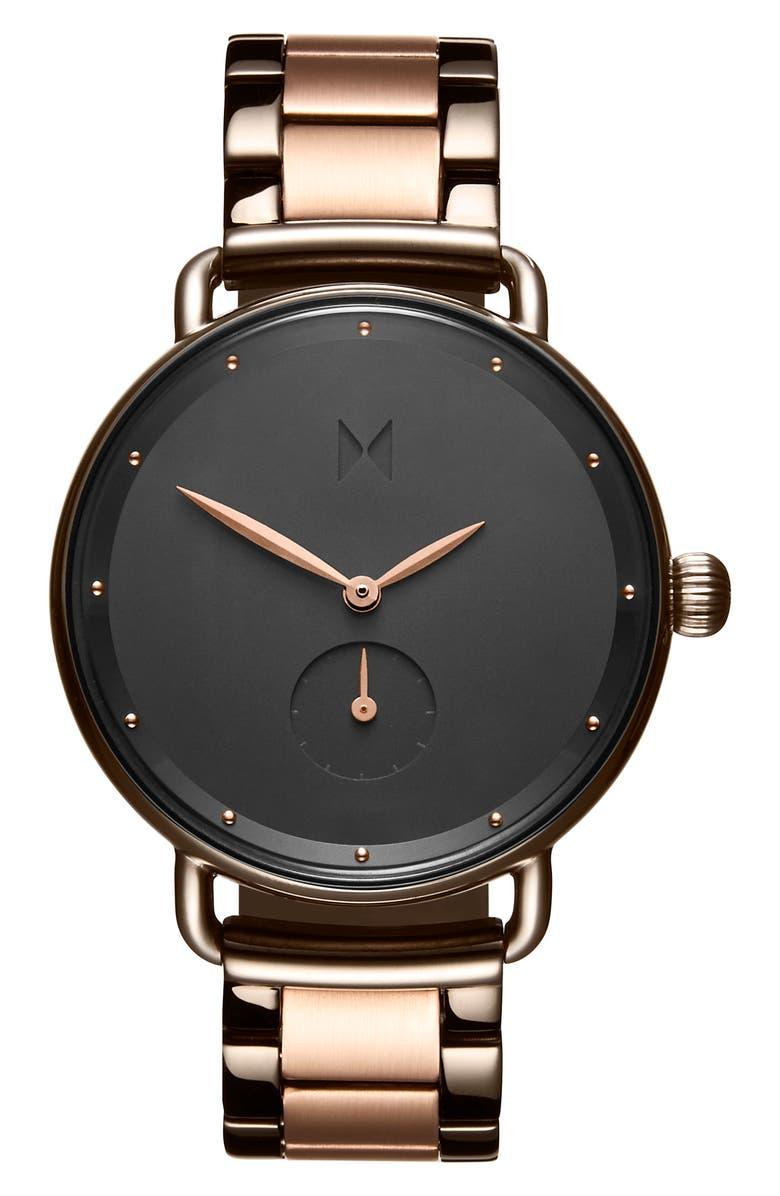 MVMT Bloom Bracelet Watch, 36mm, Main, color, ROSE GOLD/ BLACK
