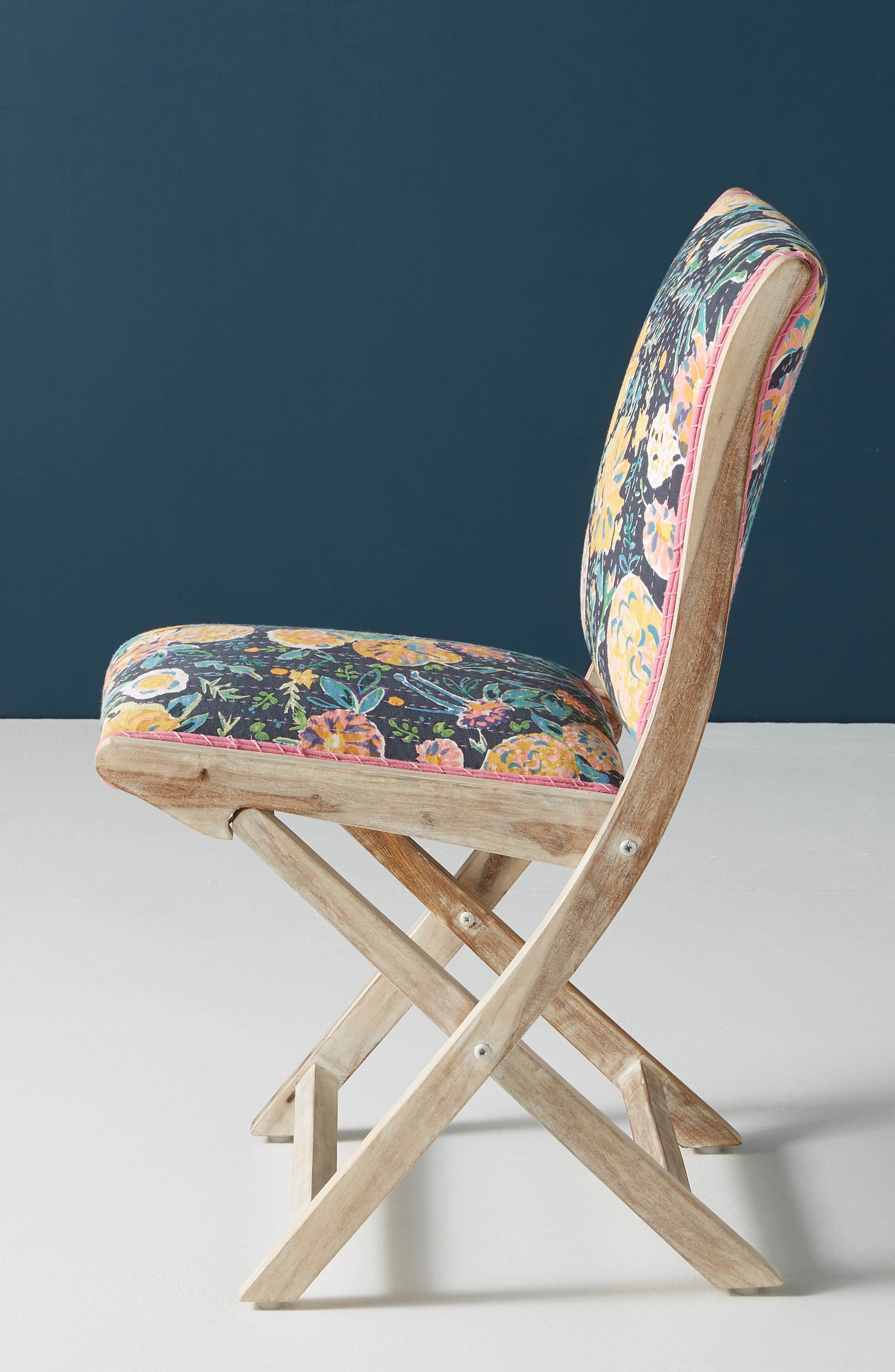 ,                             Emma Terai Folding Chair,                             Alternate thumbnail 3, color,                             BLACK MULTI