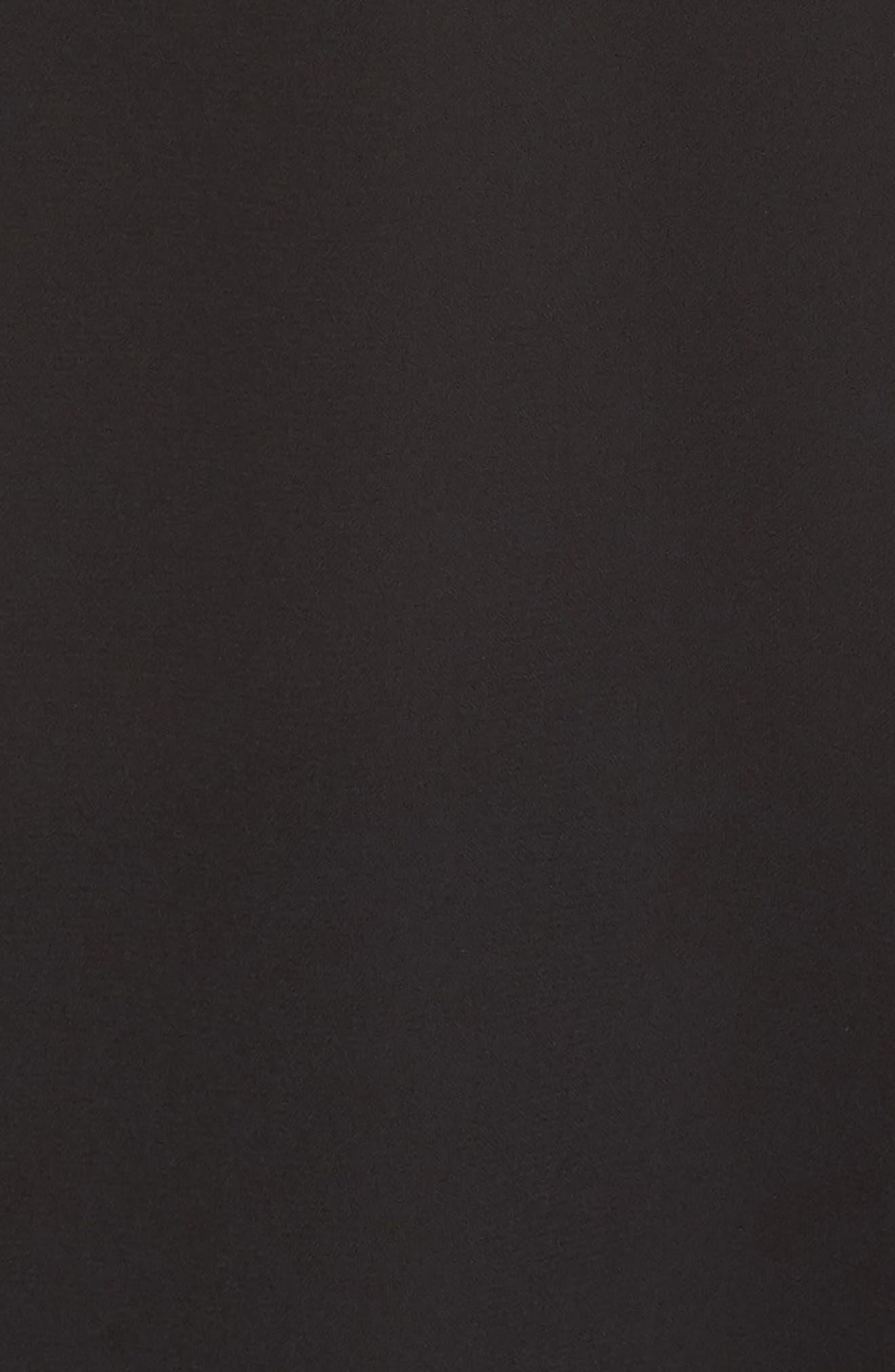 ,                             V-Neck Georgette Wrap Gown,                             Alternate thumbnail 6, color,                             BLACK