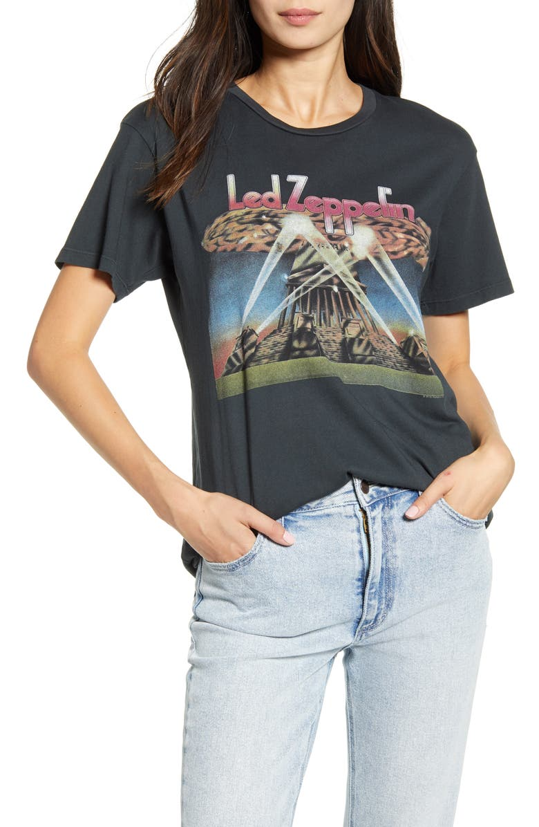 DAYDREAMER Led Zeppelin II Blimp Tee, Main, color, VINTAGE BLACK