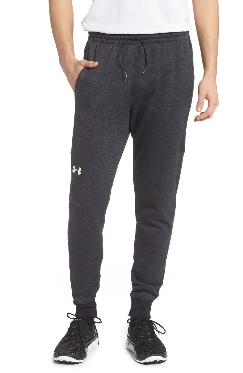 UNDER ARMOUR Double Knit Jogger Pants, Main, color, BLACK/ ONYX WHITE