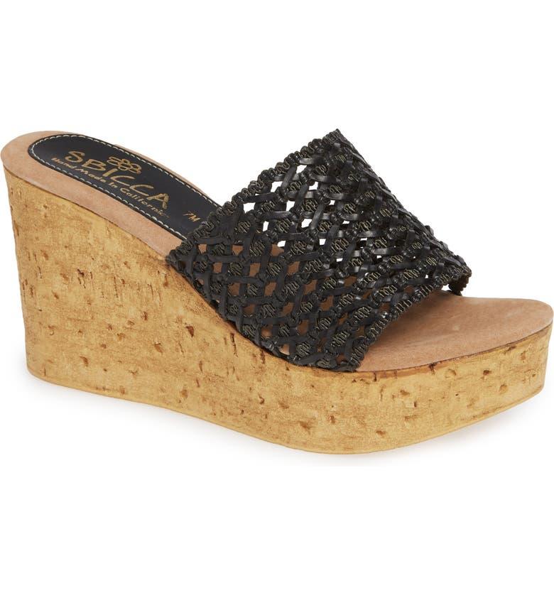 SBICCA Monat Platform Wedge Sandal, Main, color, 001