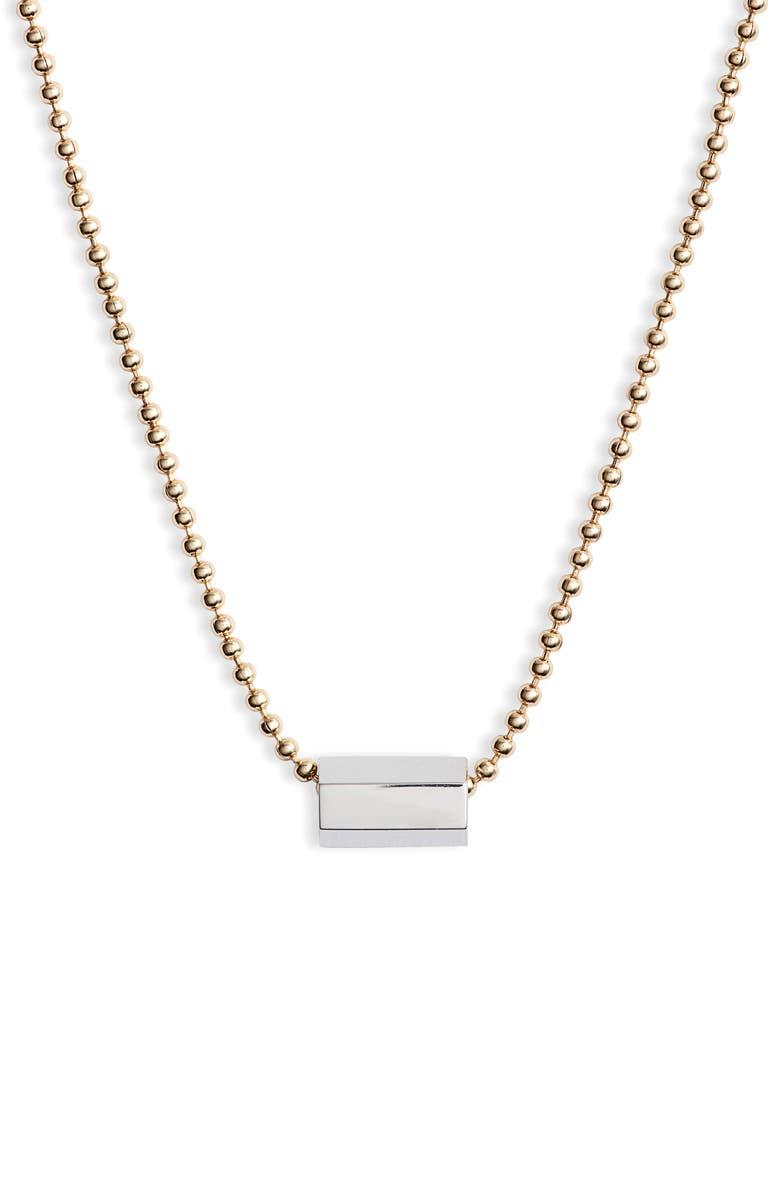 ALLSAINTS Bar Pendant Chain Necklace, Main, color, 040