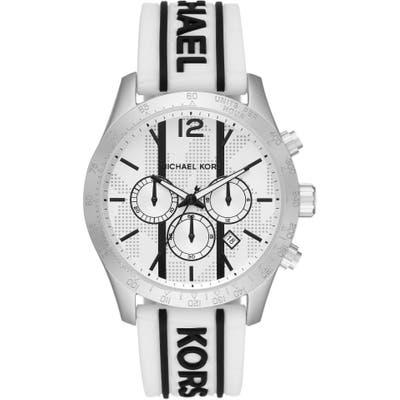 Michael Kors Layton Chronograph Silicone Strap Watch, 4m