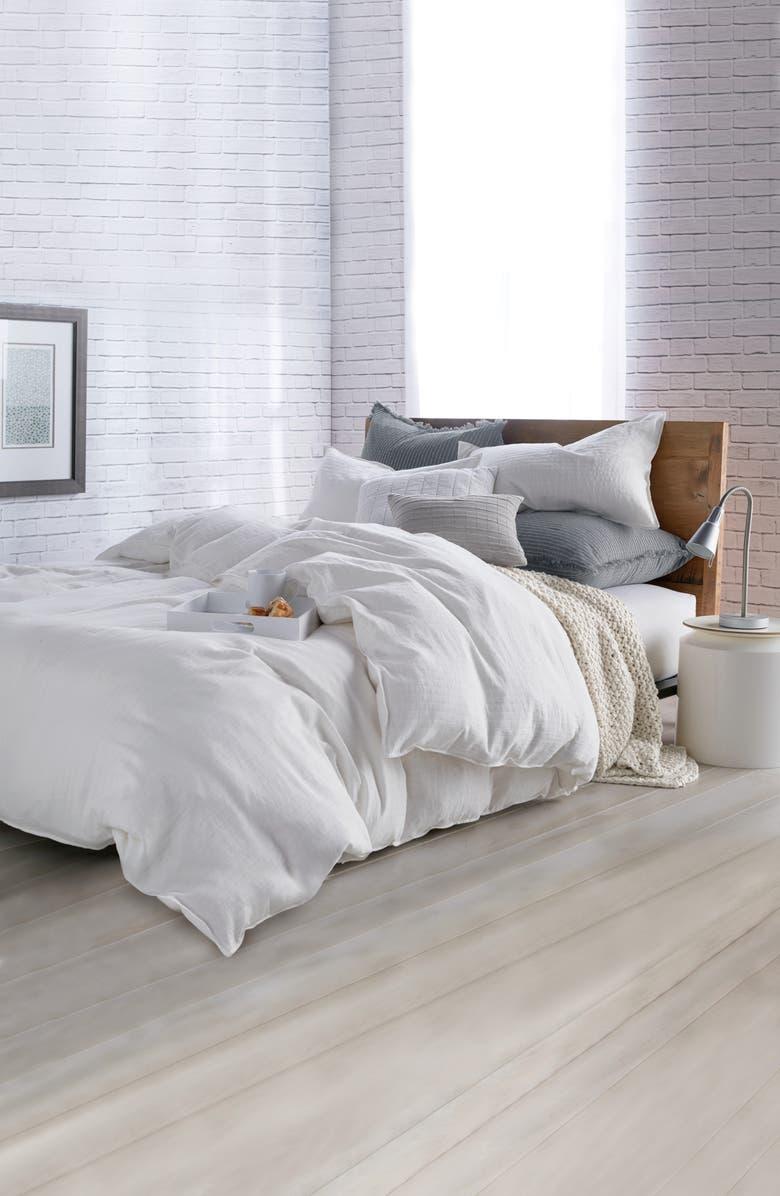 DKNY Pure Comfy Comforter & Sham Set, Main, color, WHITE