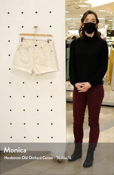 Muse 3 High Waist Denim Cutoff Shorts, sales video thumbnail
