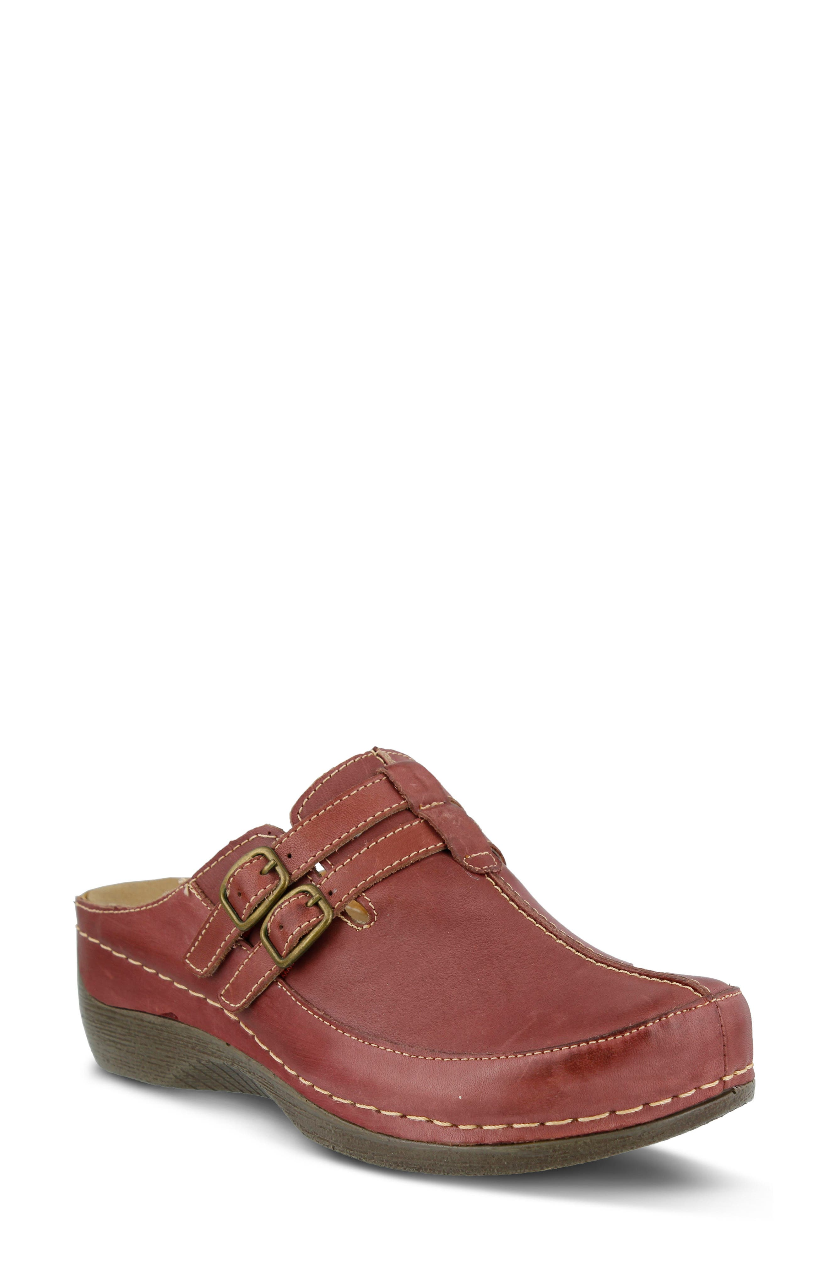 Spring Step Happy Clog - Red