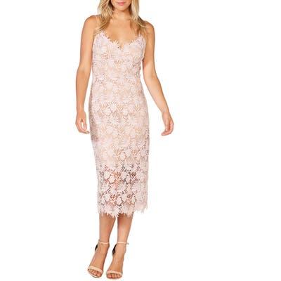 Bardot Tayla Floral Lace Midi Dress