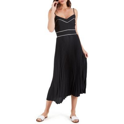Cooper St. Zuri Pleated Midi Dress, Black