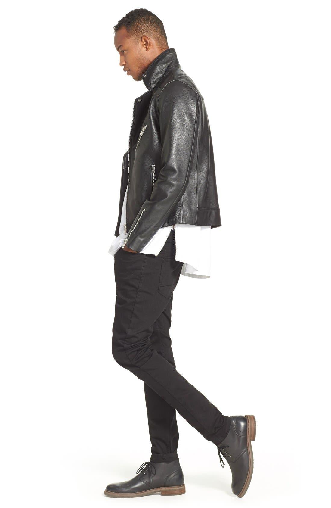 ,                             Skinny Stretch Jeans,                             Alternate thumbnail 8, color,                             BLACK
