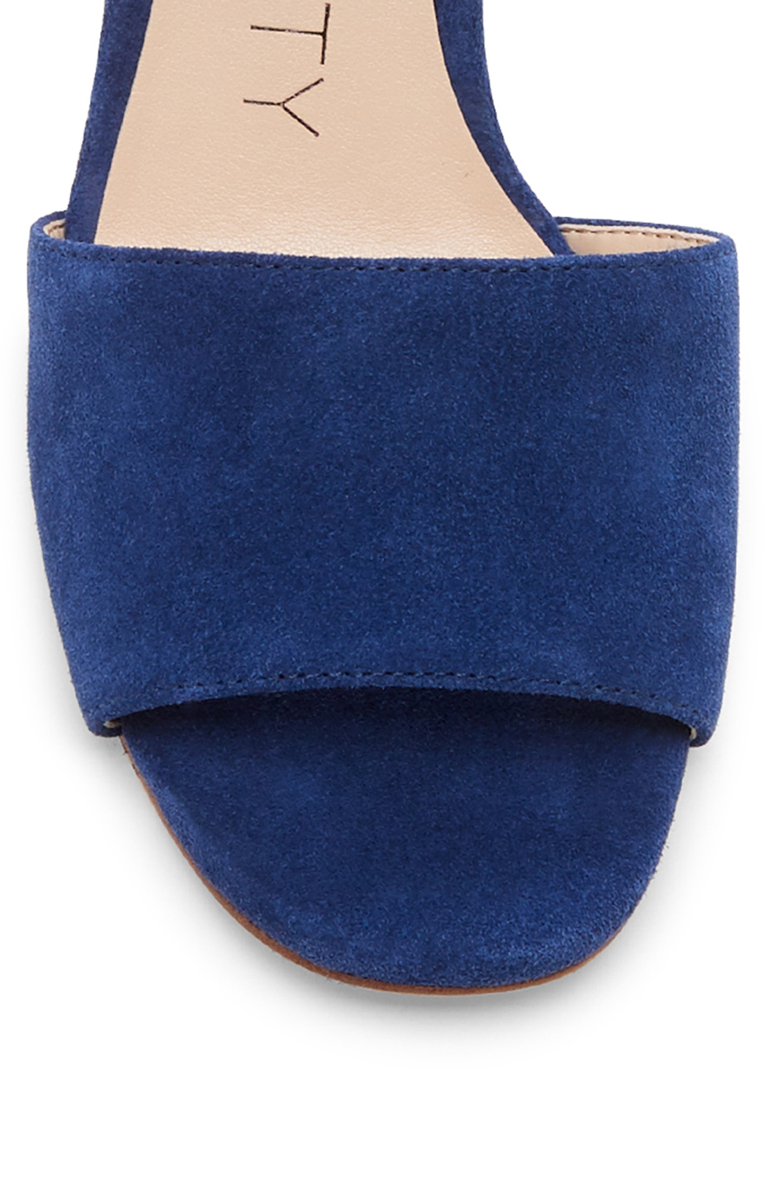 ,                             Kenia Wedge Sandal,                             Alternate thumbnail 8, color,                             BLUE JEAN SUEDE