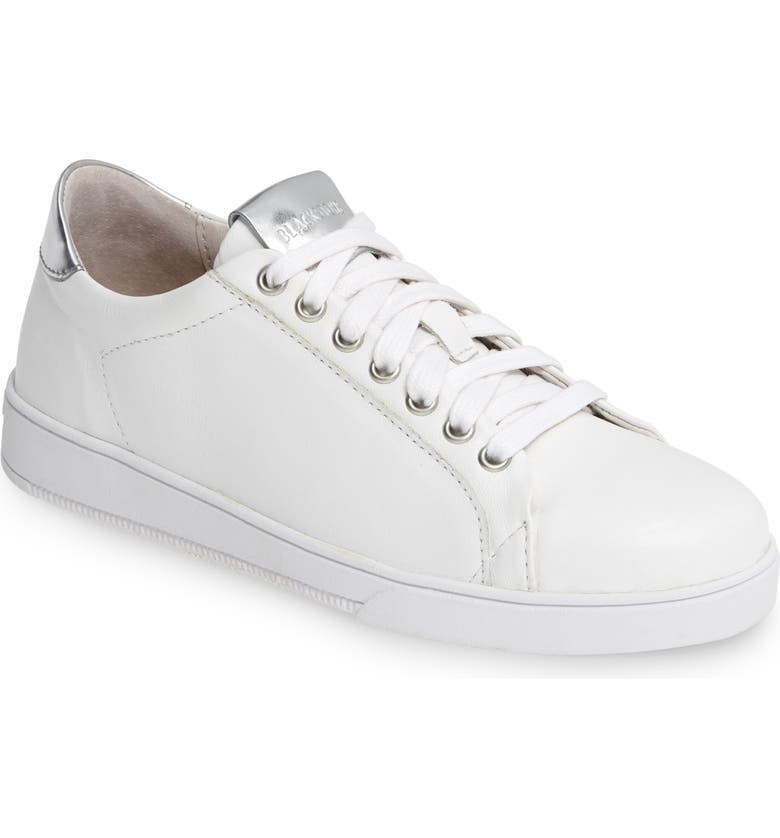 BLACKSTONE RL90 Low Top Sneaker, Main, color, WHITE/ SILVER LEATHER