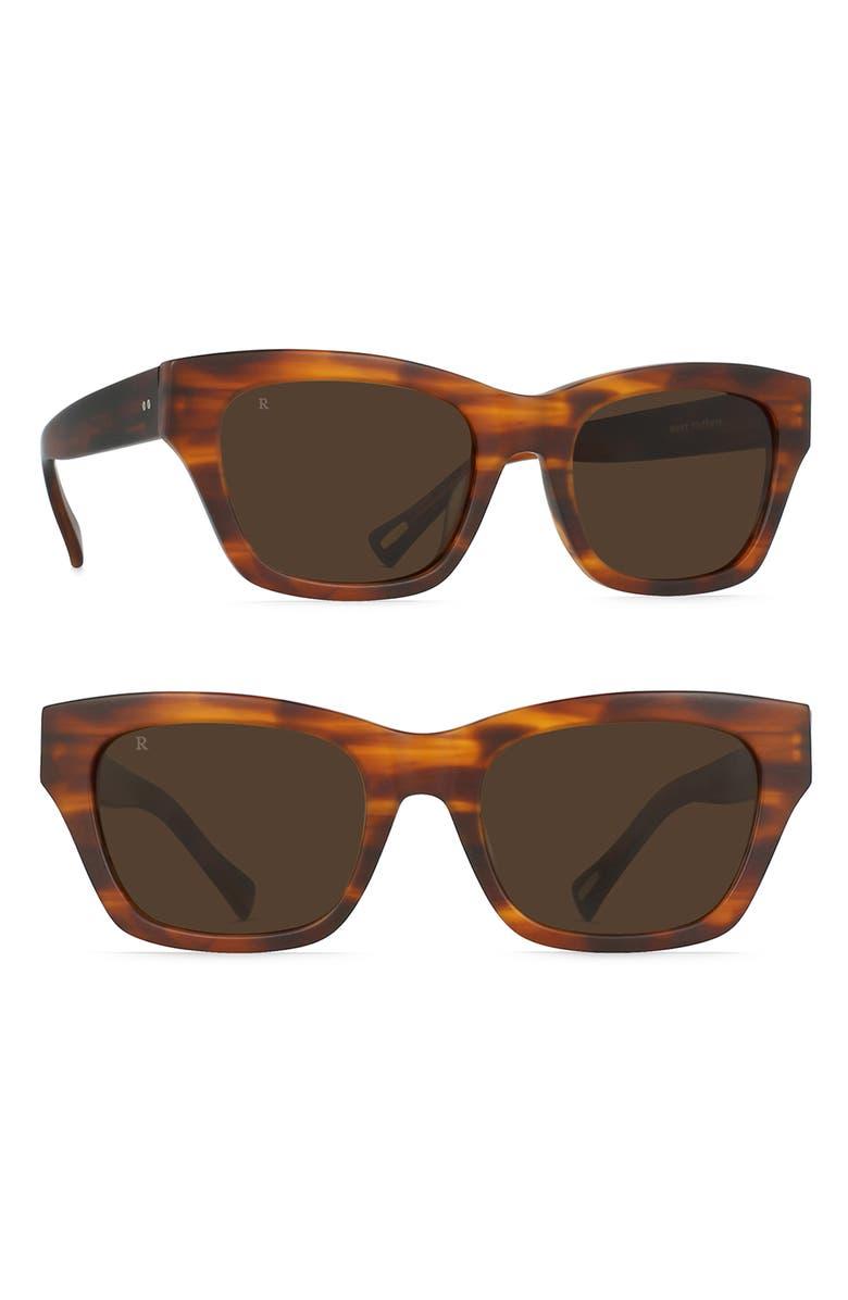 RAEN Bower 52mm Sunglasses, Main, color, MATTE ROOTBEER/ BROWN