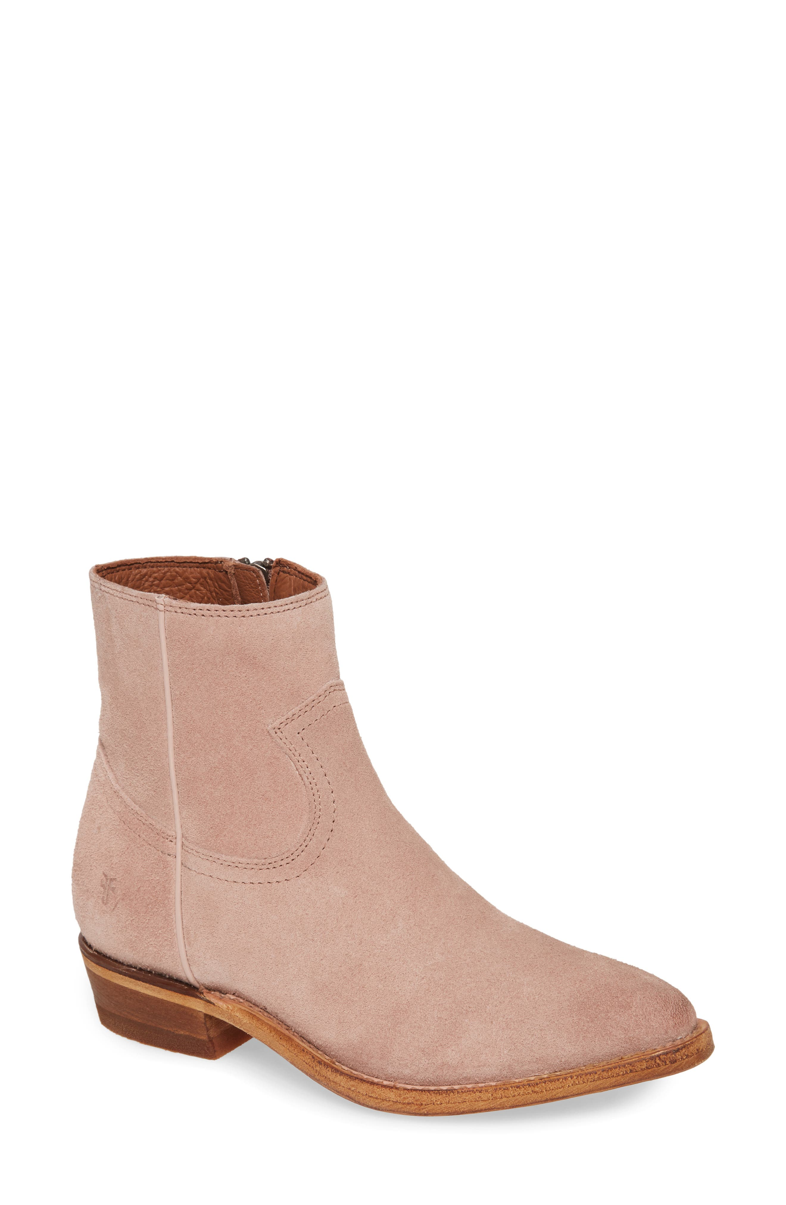 Western detailing makes a subtle statement on a full-grain leather bootie that\'s a poised standby style. Style Name: Frye Billy Bootie (Women). Style Number: 5947095. Available in stores.
