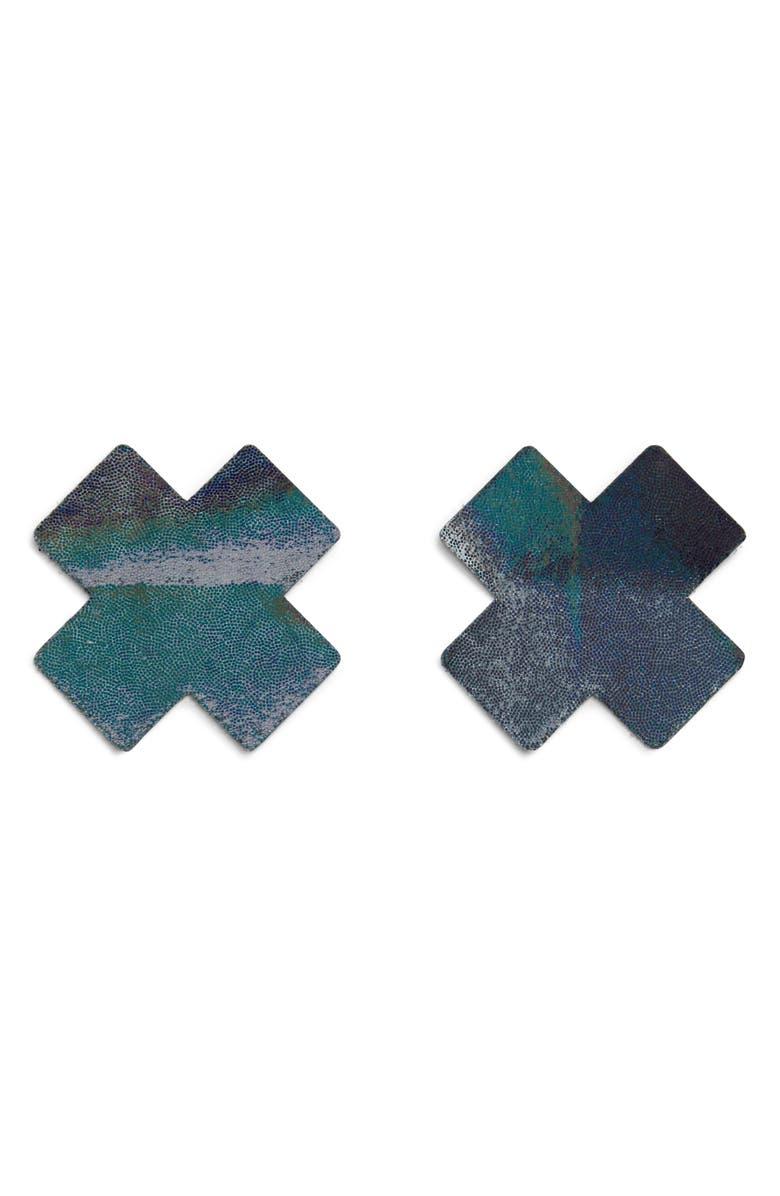 BRISTOLS 6 Nippies by Bristols Six Glitter Nipple Covers, Main, color, GUNMETAL