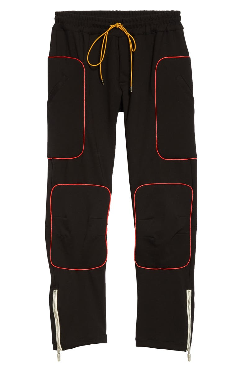RHUDE Ponte Moto Pants, Main, color, BLACK