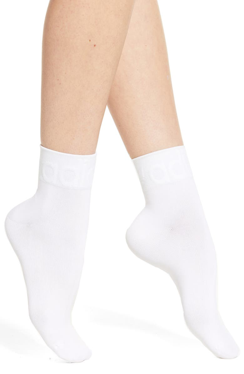 ADIDAS Originals Tonal Forum Ankle Socks, Main, color, 100