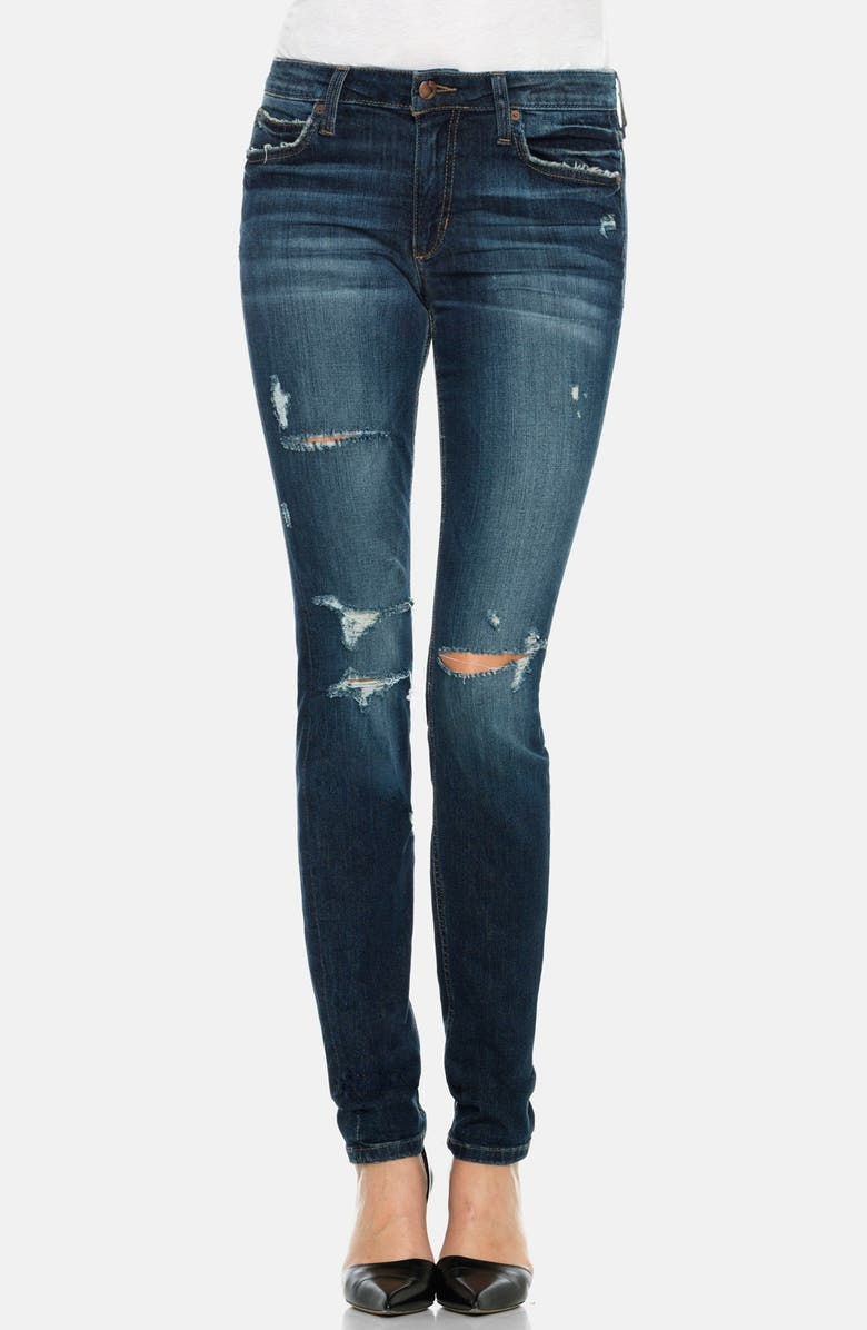 JOE'S Mid Rise Skinny Jeans, Main, color, 400