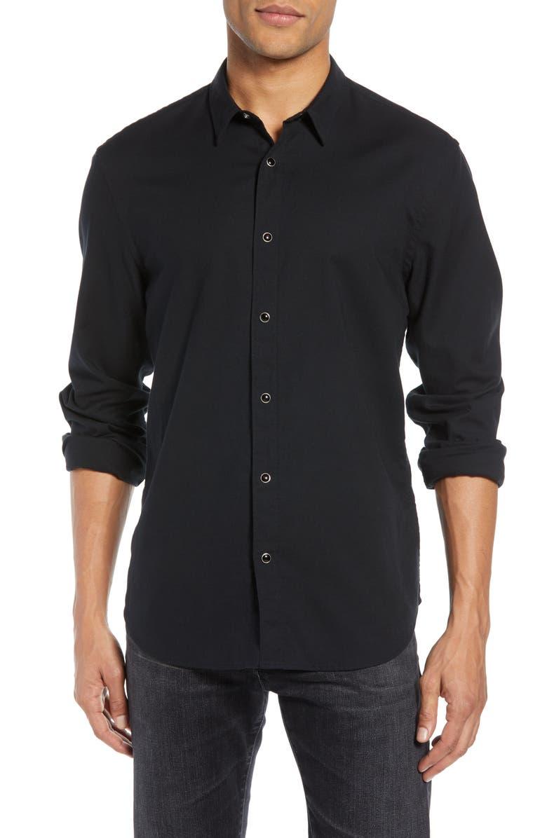 JOHN VARVATOS STAR USA Snap Shirt, Main, color, BLACK