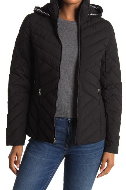 Image of Nautica Short Hooded Puffer Jacket