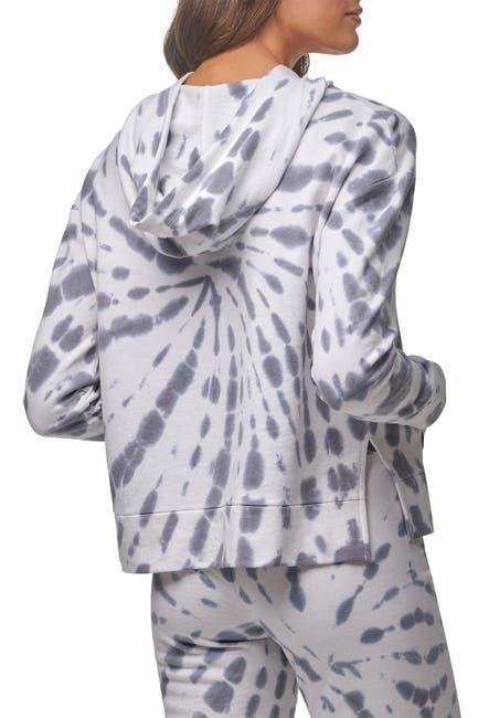 Image of MARC NEW YORK PERFORMANCE Tie Dye Drawstring Boxy Hoodie