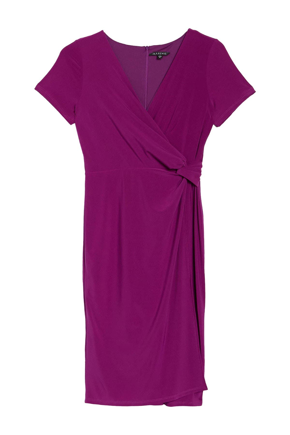 Image of Onyx Nite Ity Ruched Wrap Dress